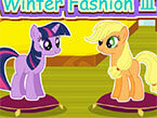 Мода Пони Твайлайт и АпплДжек (My Little Pony Invierno 3)