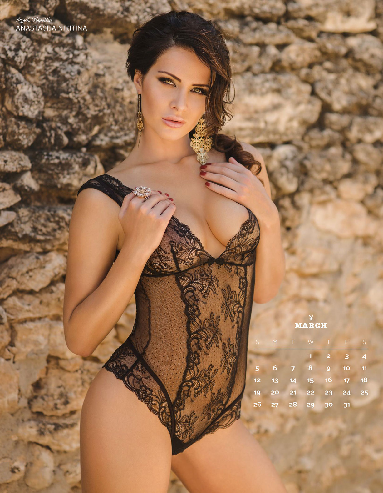Playboy USA 2017 Official Calendar - Playmates Around the World - Anastasija Nikitina | Czech Republic