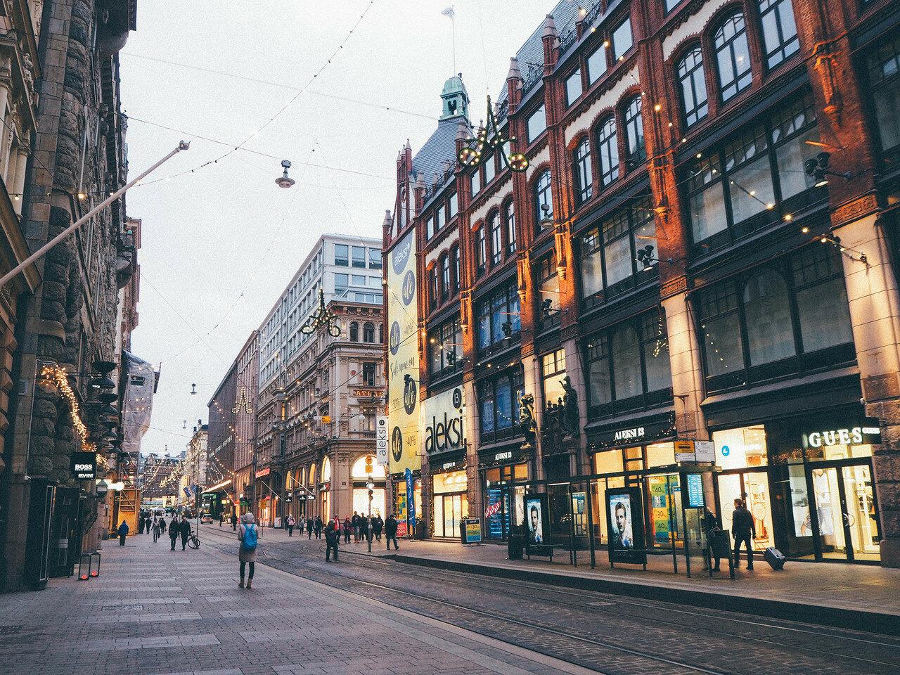 Улицы центра хельсинки фото