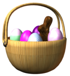 Корзинки с яйцами.