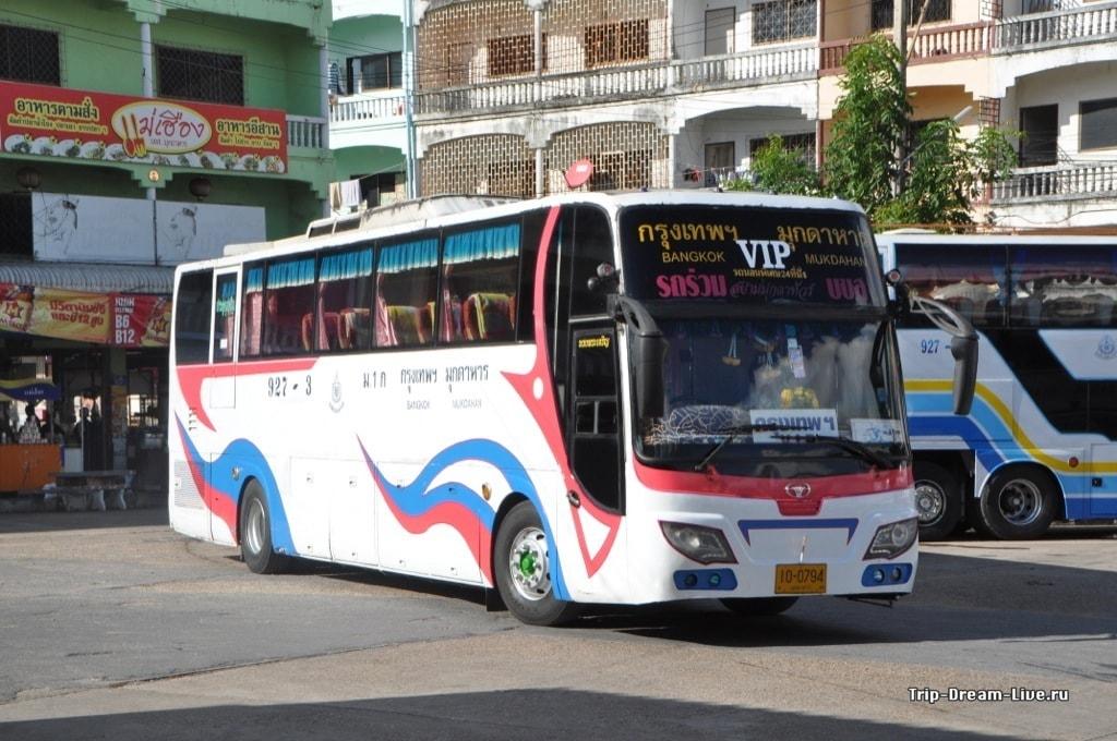 Автобус, Бангкок-Мукдахан, который не останавливался на еду