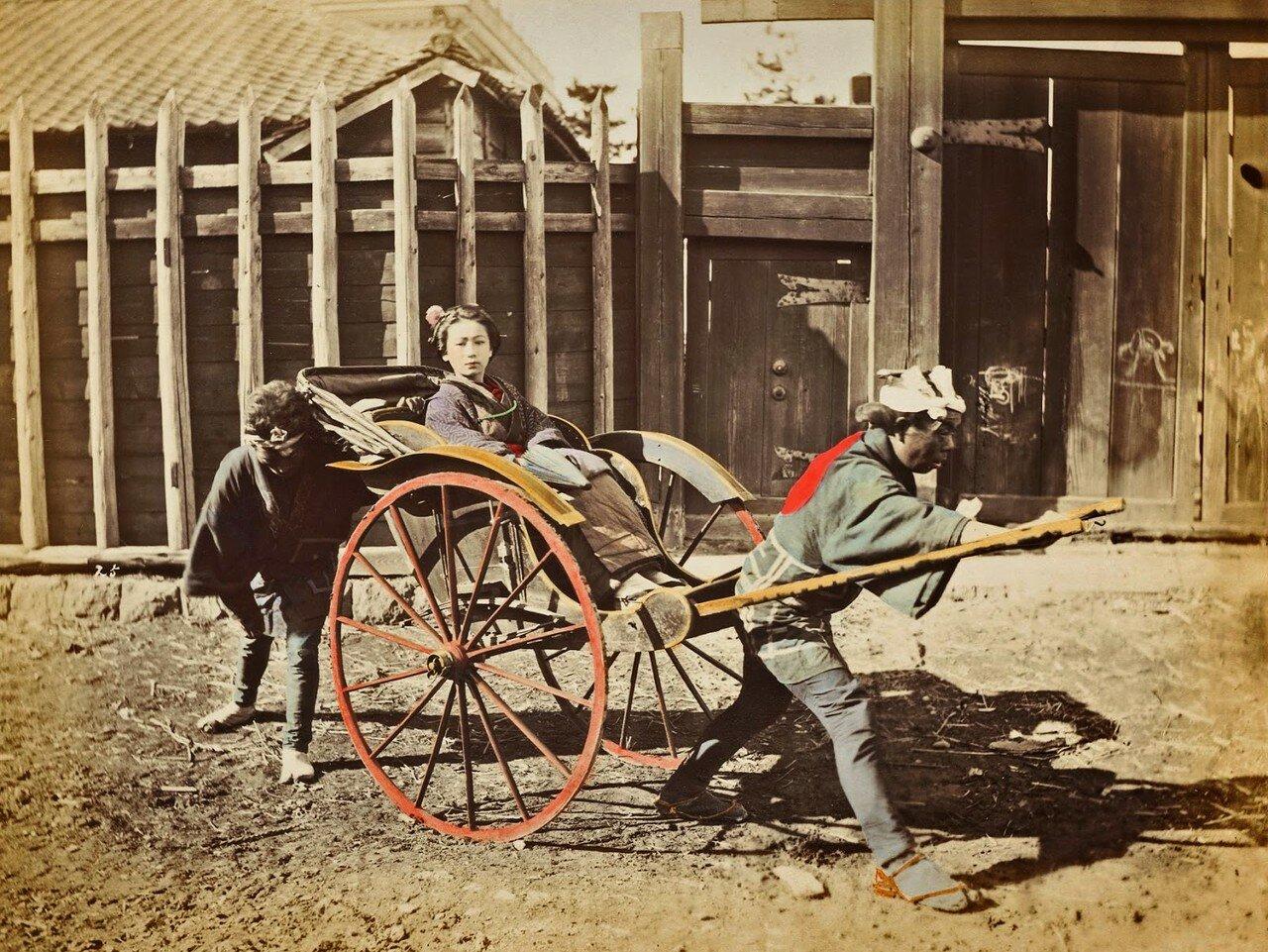 Рикша. 1880-е.