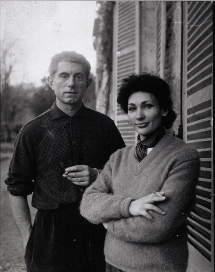 1960-е. Пауло Пикассо и его жена Кристина