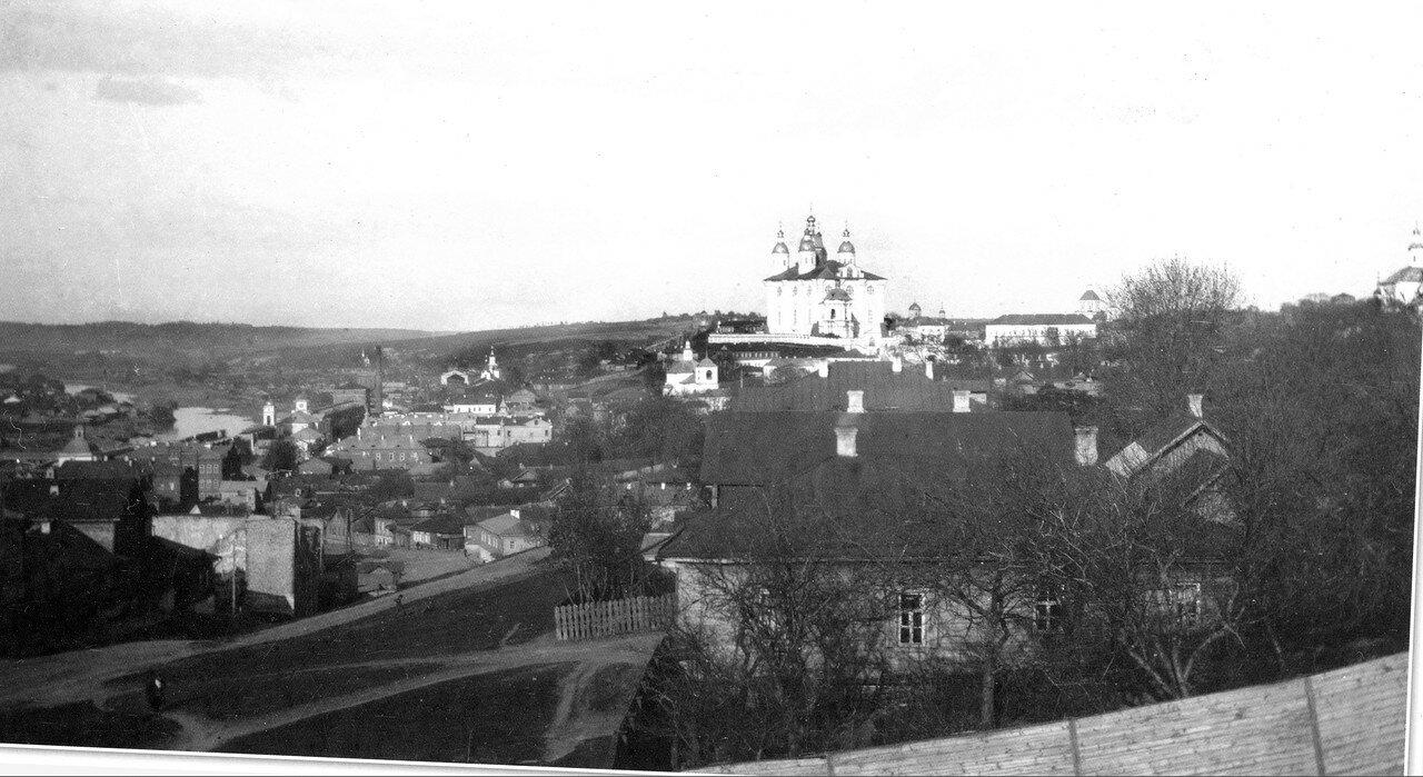 Вид на Соборную гору с Казанской горы. 1907