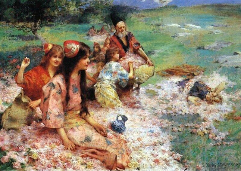 Генри Моубри, Урожай из роз (1887)