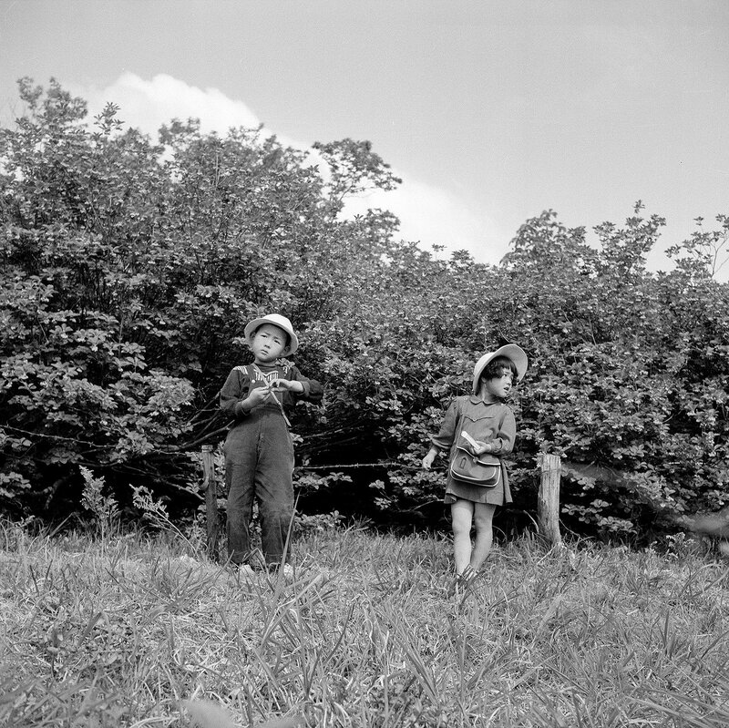 Boy & Girl in the Woods - 1950s Japan
