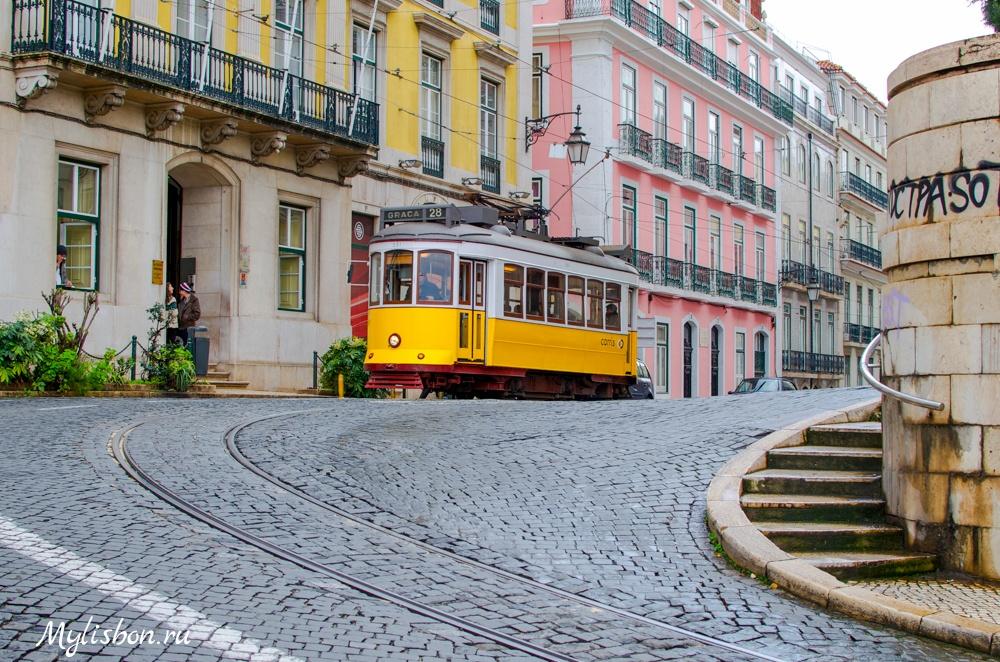 Знаменитый лиссабонский трамвай №28.