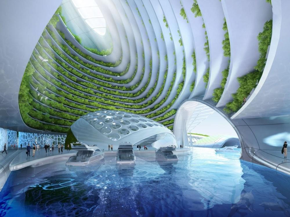 Смелая фантазия бельгийского архитектора Венсана Кальбо. Проект носит название Aequorea, аего строи