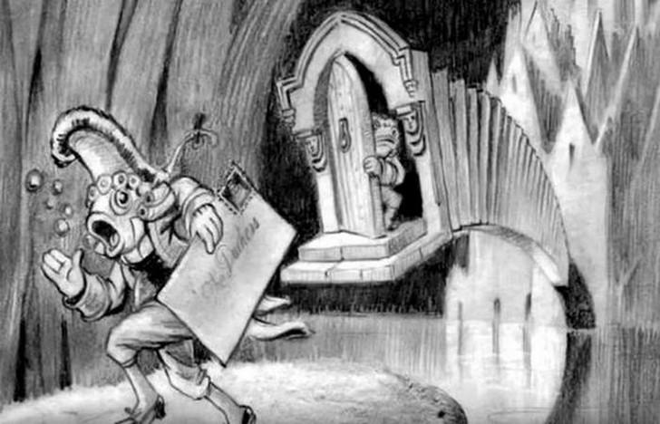 Кадр из фильма В 1939 году Дисней все еще пытался снять фильм по мотивам «Алисы». Сохранилось по кра
