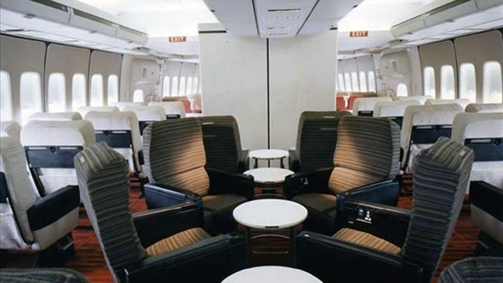 Более поздний вариант оформления первого класса на борту Boeing 747.