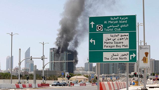 ВАбу-Даби встроящемся небоскребе вспыхнул пожар