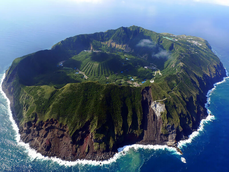 Вулканический остров Аогасима