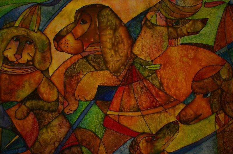 Выставка детского рисунка, Саратов, цирк, 21 апреля 2016 года