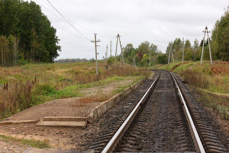 Платформа 354 км, вид на Великие луки
