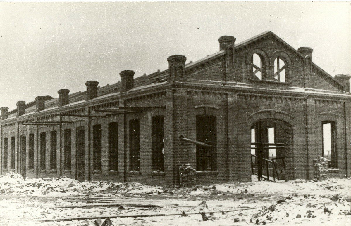 Село Иваново. Строительство заводского корпуса. 1916