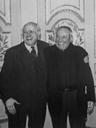 Мстислав Ростропович и Эрнст Неизвестный, 1996 год