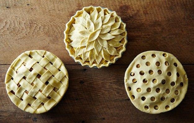 Украшения из теста для пирогов с