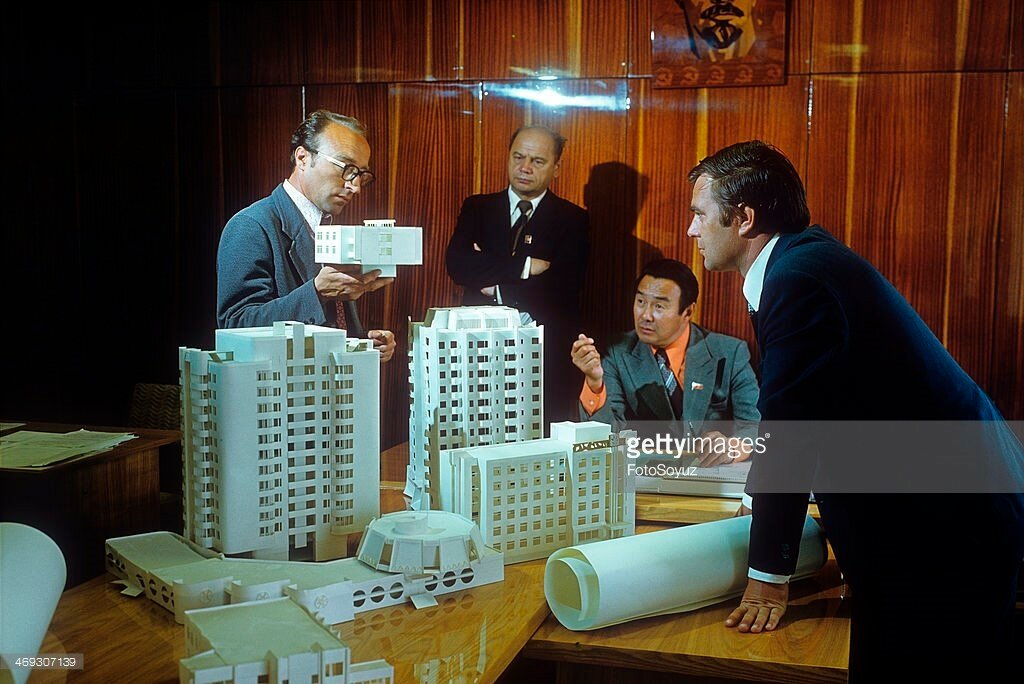 1975 Architects of Yakutsk discuss the plan of building of city.jpg