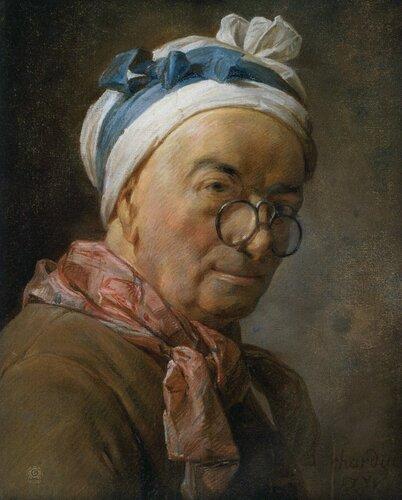 Жан-Батист Симеон Шарден: Автопортрет с очками