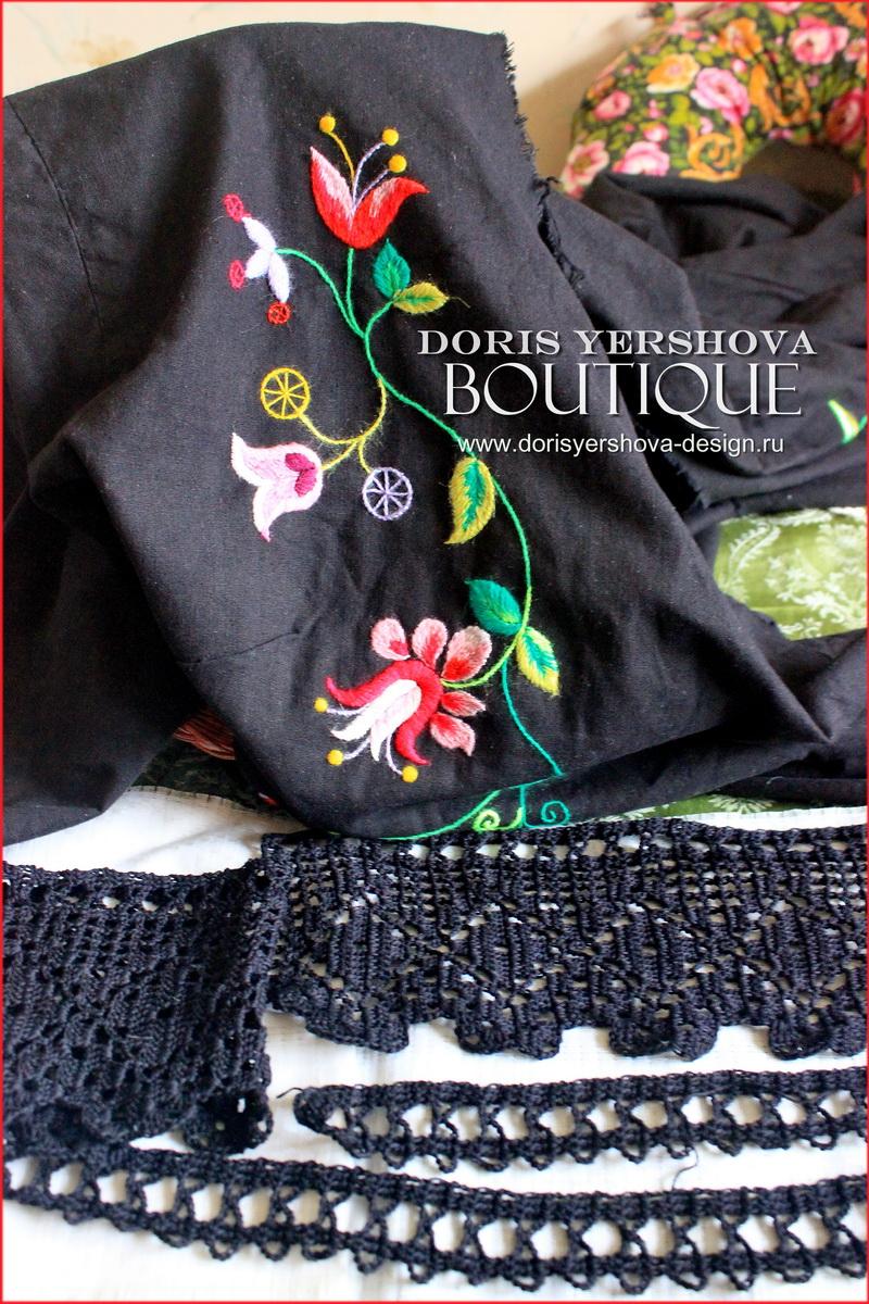 дизайн Дорис Ершовой, блог Дорис Ершовой, вязаньте крючком, кружево, черное кружево, вязанные мотивы, рукоделие, филейное кружево