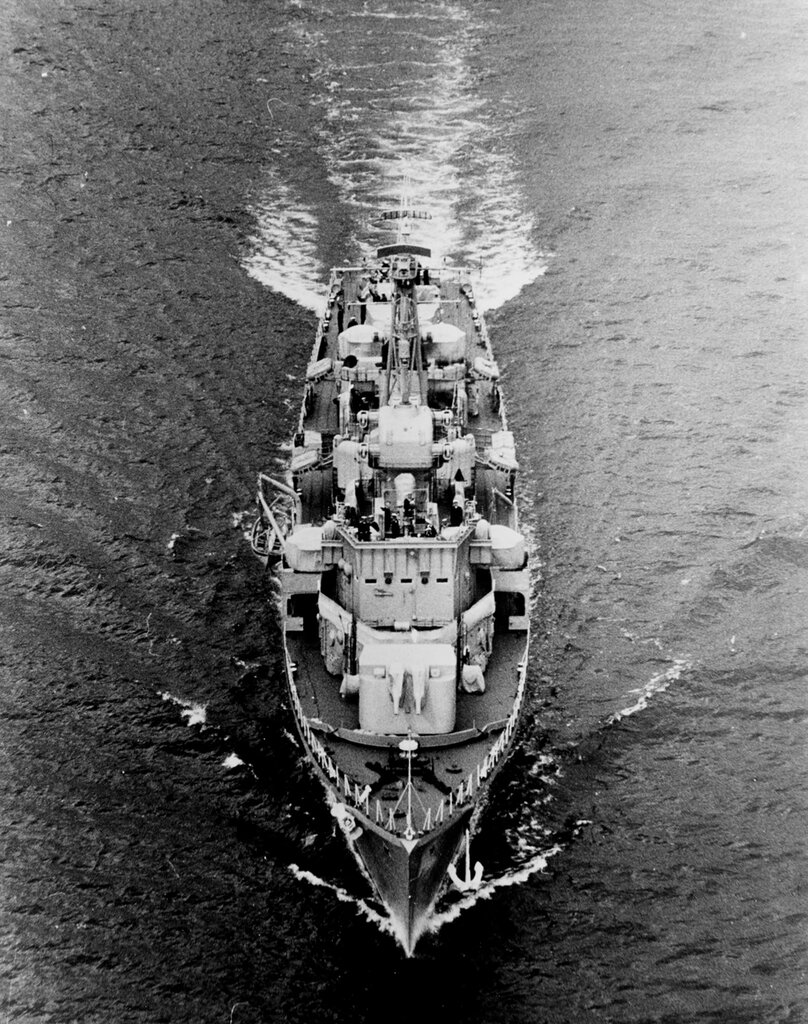 STATNYI, Soviet Destroyer. Photographed during 15 to 22 July 1954 at the time of a port visit to Stockholm, Sweden.