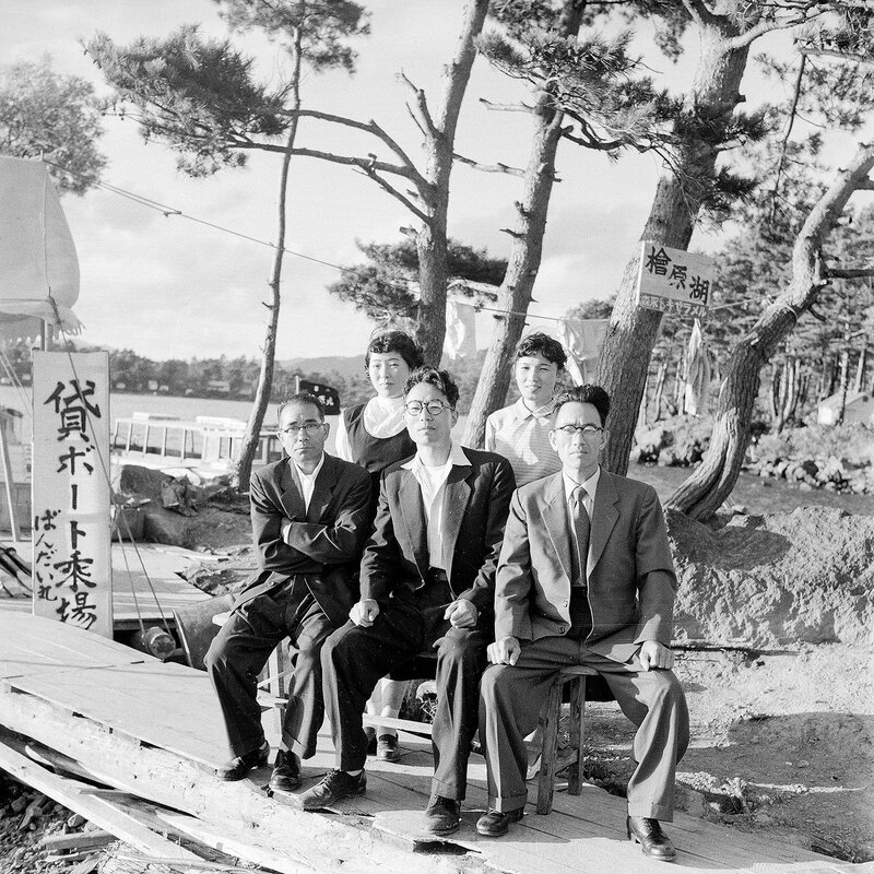 Guys in Suits on a Pier - 1950s Japan