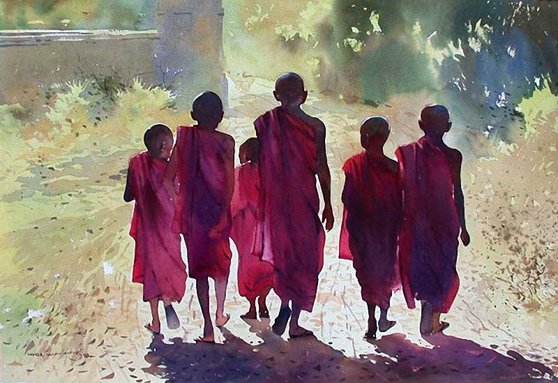 Мир, изображённый автором, слегка задумчив и загадочен, как улыбка Будды. В одних его работах – умир