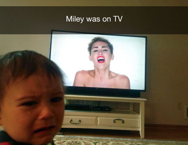 «По телевизору показывали Майли».