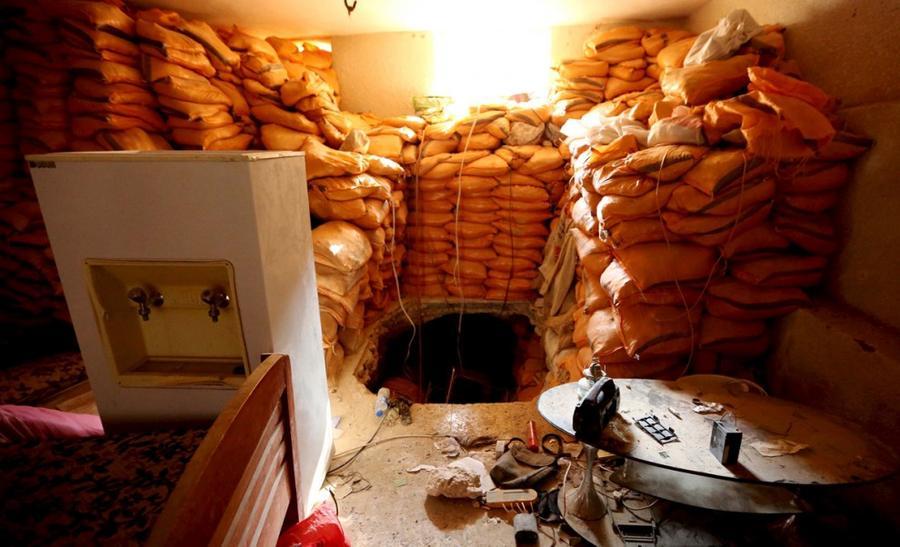 7. Вход в тоннель, который использовался боевиками ИГИЛ (запрещена в России), в Синджаре, Ирак, 1 де