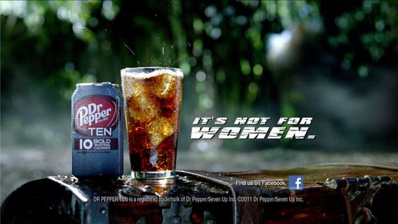 В 2011 году сотрудники компании Dr. Pepper обнаружили, что мужчины игнорируют диетические напитки, в