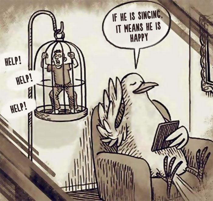 Правдивые иллюстрации о том, как животные и люди поменялись ролями