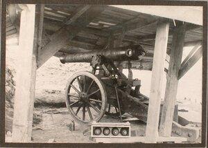 Вид одного из орудий на форте группы Гурко.