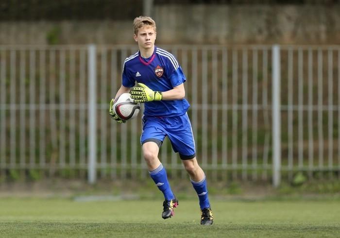 Николай Радченко - вратарь команды ДЮСШ ПФК ЦСКА 2001 года рождения