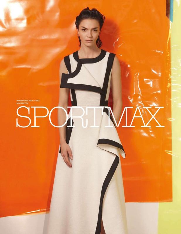 Supermodel Mariacarla Boscono returns for another season as the elegant face of Italian label SPORTM