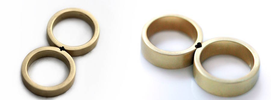 Cute Matching Wedding Rings (8 pics)