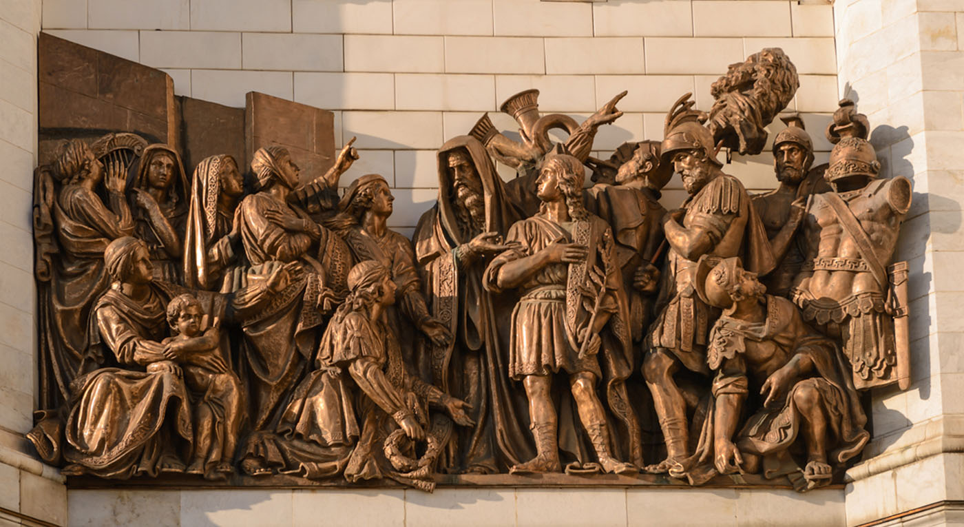 Фото 15. Барельефы на стенах храма Христа Спасителя. Отчет о самостоятельной экскурсии по столице. Какие достопримечательности посмотреть за 1 день. 1/400, 5.6, 100, 70.