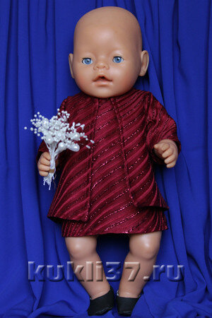 короткое летнее пальто для куклы