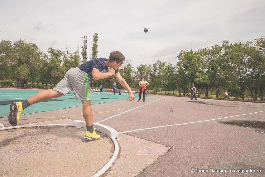 спорт толкание ядра