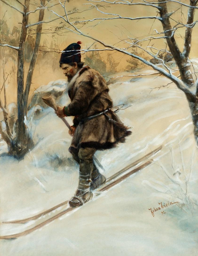 Шведский художник Tiren Johan (1853-1911)