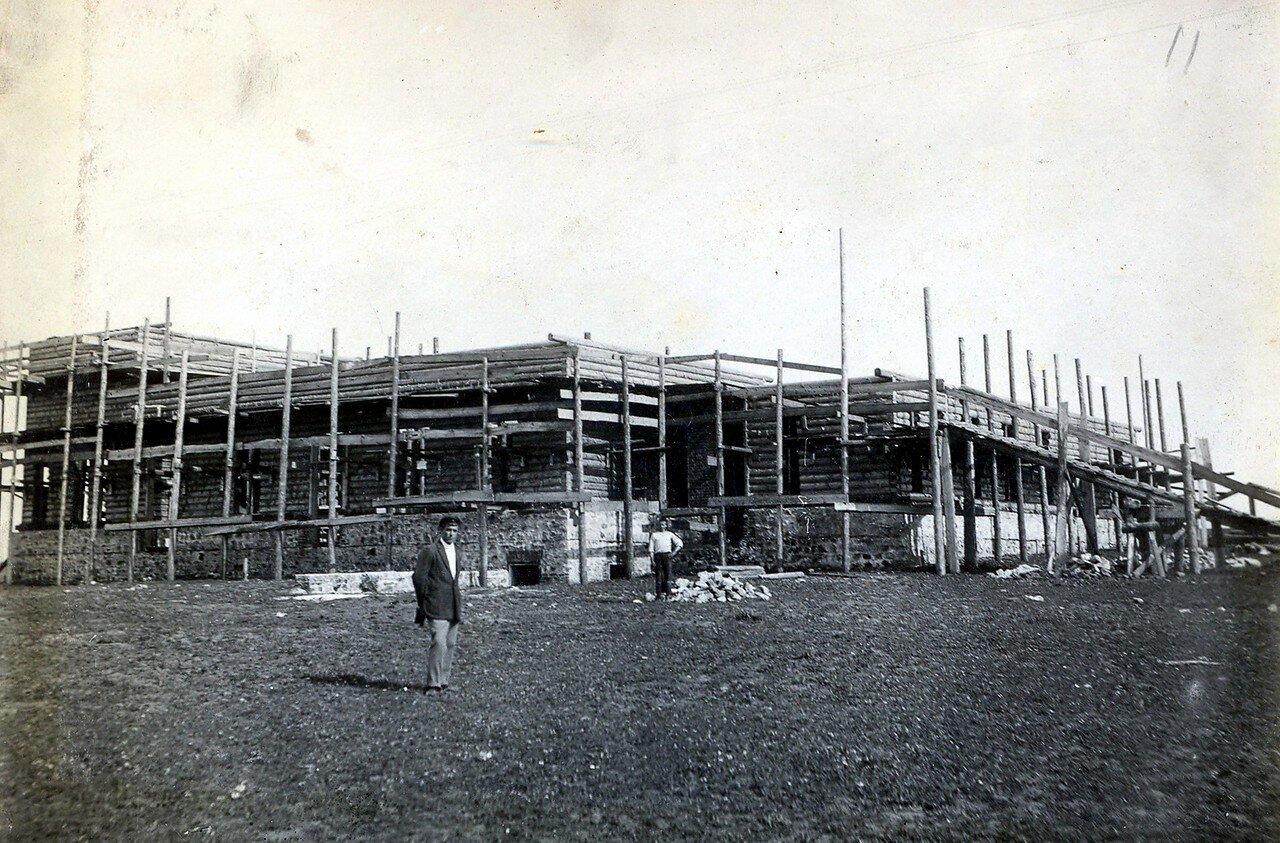 1929. Постройка клуба на Октябрьском Поле
