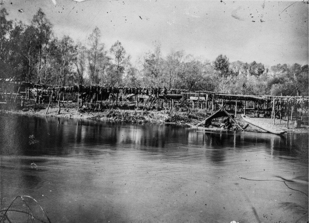 Вид деревни нивхов