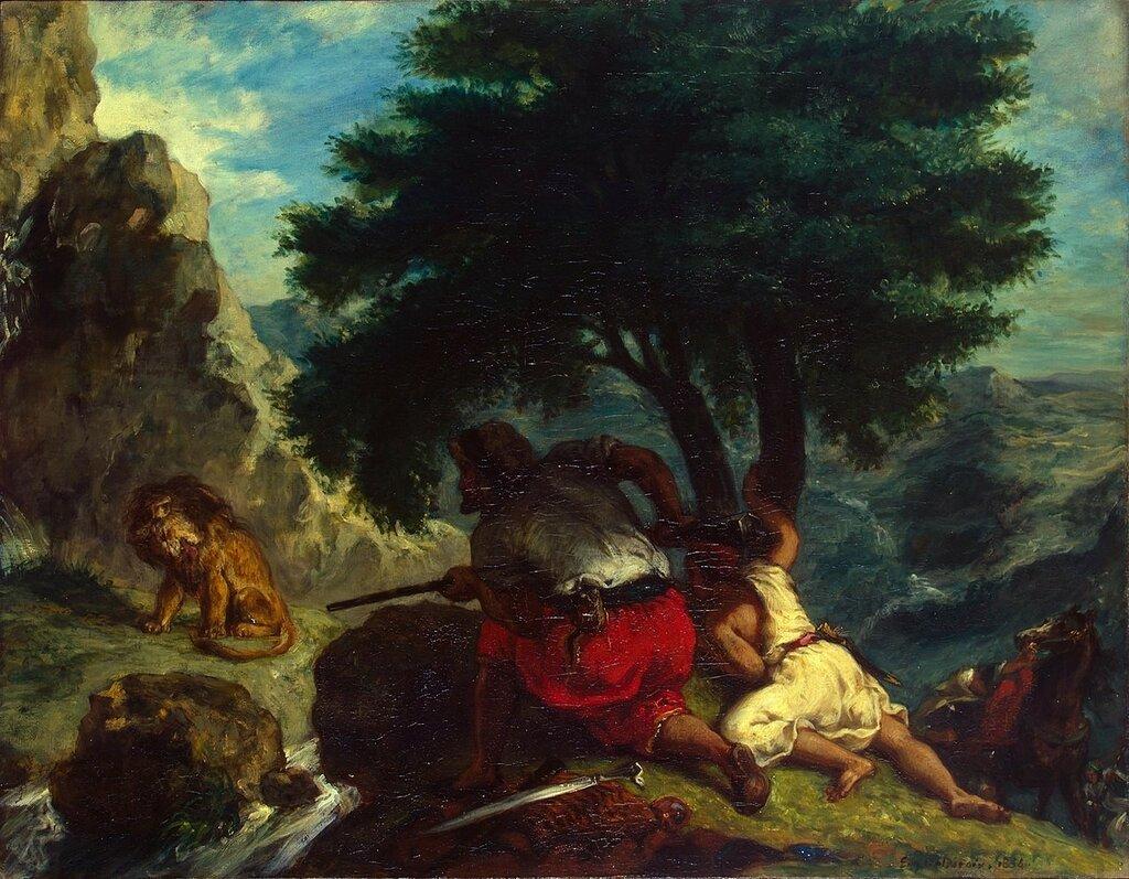 1280px-Eugène_Delacroix_-_Lion_Hunt_in_Morocco_-_WGA6228.jpg