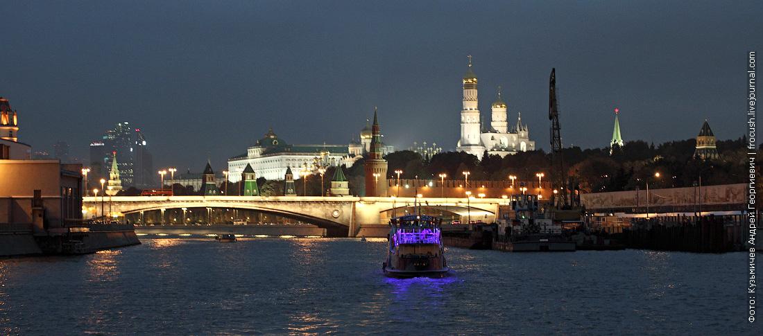 Москва-река ночное фото