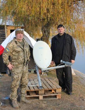 """Недавно к нам приехали наши побратимы, бойцы батальона """"Киев-2"""""""
