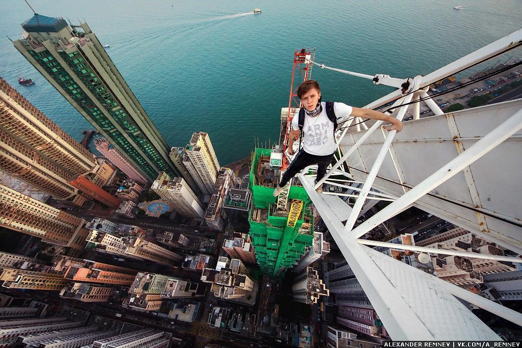 Hong Kong Crane (Crazy Selfie)