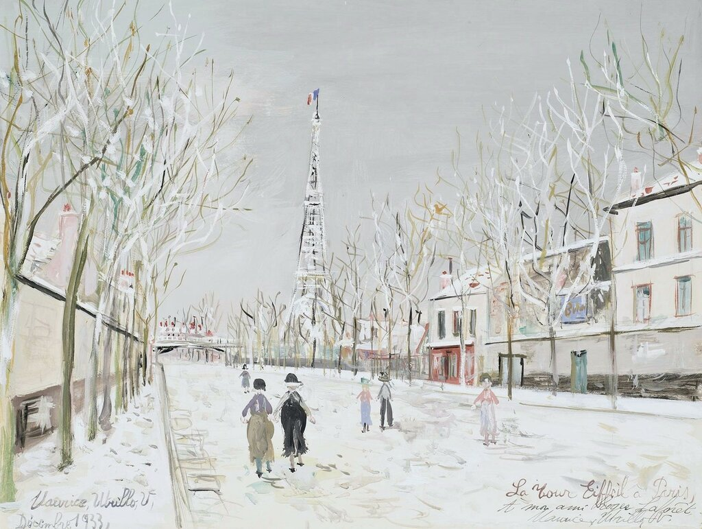 The Eiffel`s Tower under Snow, 1933.jpg