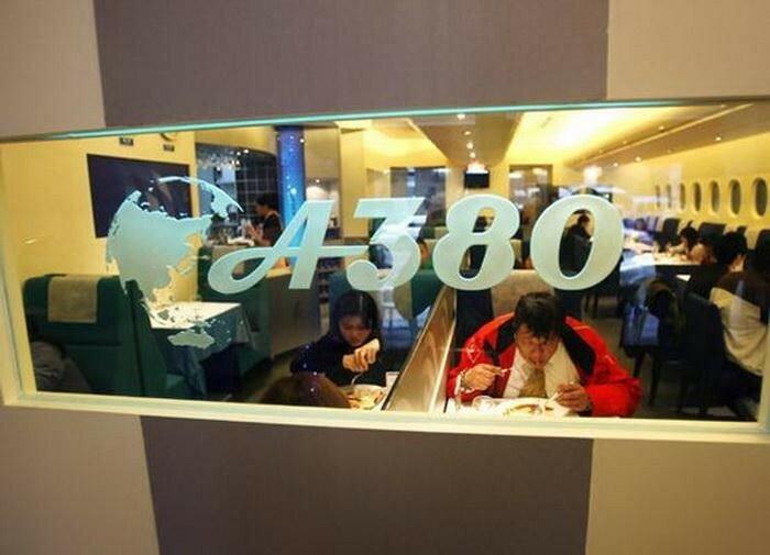 Тематический ресторан в Airbus A380 в Китае. Немного о самолете