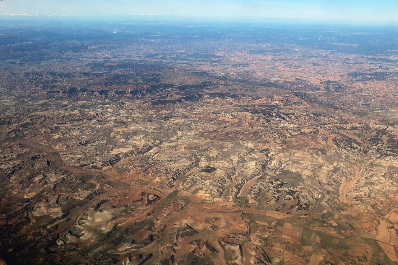 Горы Куэнка, вид с самолета