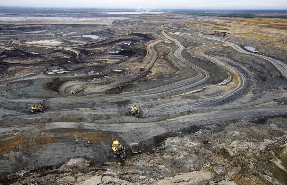 12. Машины в буквальном смысле ползают по пескам, пропитанным нефтью. (Фото Reuters | Todd Koro