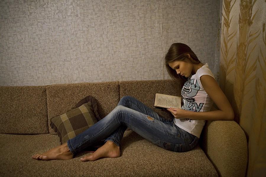 15. Анастасия Машукова дома накануне вылета в Москву для конкурса Мисс Россия.